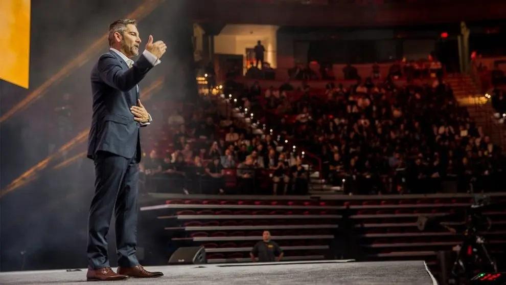 Grant Cardone speaking on stage