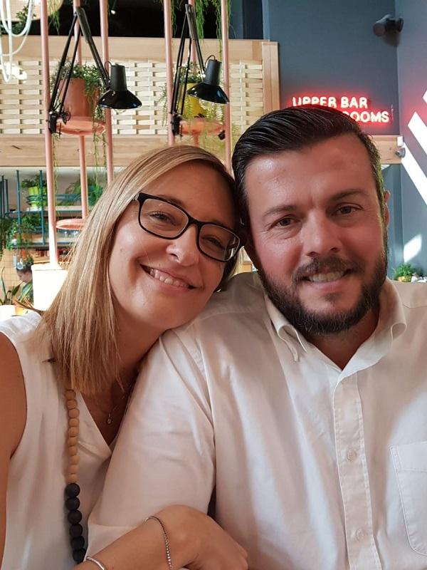 Albert with wife Janene